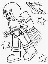Astronaut Coloring Pages Space Kid Colouring Rocket Printable Helpers Community Preschool Astronout Booster Suit Wearing Drawing Simple Cartoon Titan Getdrawings sketch template