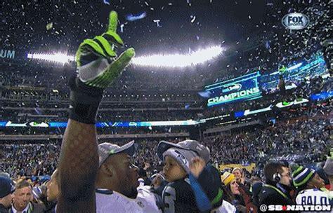 super bowl xlviii seahawks celebrate championship
