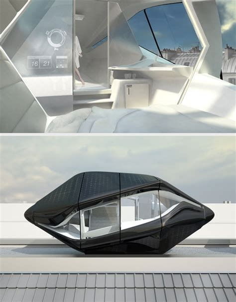 futuristic homes interior futuristic rooftop living room in a compact prefab capsule