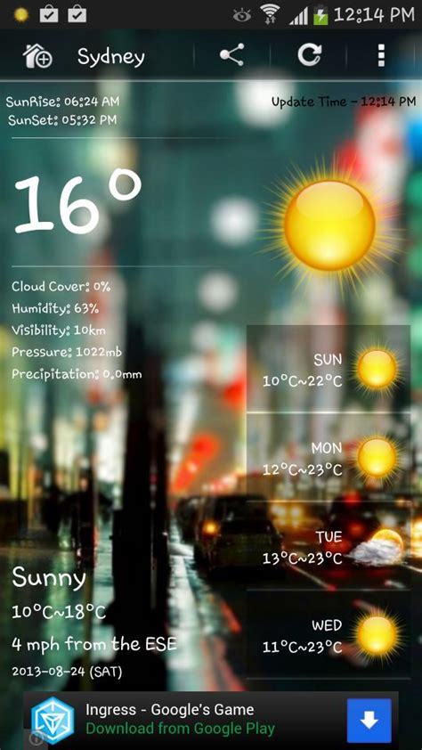 free weather apps for android offline weather apps for android devices