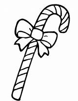 Candy Coloring Pages Cane Christmas Ribbon Printable Clipart Bow Canes Sweet Cancer Cliparts Ribbons Sheet Cheer Getcoloringpages Clipartmag Clip Library sketch template