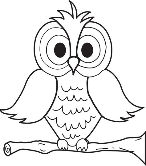 printable cartoon owl coloring page  kids supplyme