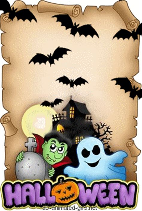 animated  gif happy halloween pumpkin greeting cards