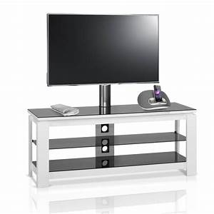 Meuble Tv En Hauteur : meuble tv design blanc 120 cm hg 836h iw premium mobuler ~ Teatrodelosmanantiales.com Idées de Décoration