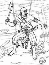 Pirate Coloring Pirata Colorare Pirates Pirat Ax Pirati Piratas Colorear Malvorlagen Colorkid Hache Avec Une Axt Einer Unascia Machado Um sketch template