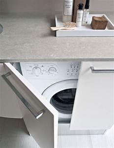 Lave Linge Dans Salle De Bain : lave linge dans la salle de bains sous le plan de toilette ~ Preciouscoupons.com Idées de Décoration