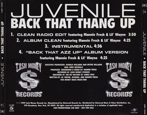 juvenile thang azz lil wayne cds 1999 djbooth cd ended