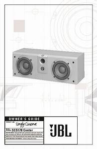 Jbl Scs 178 Center User Guide    Operation Manual  U2014 View