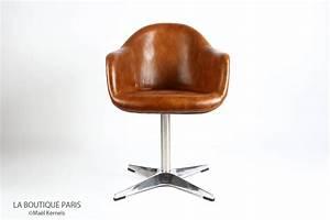 Chaise De Bureau Vintage : chaise bureau cuir marron le blog des geeks et des gamers ~ Teatrodelosmanantiales.com Idées de Décoration
