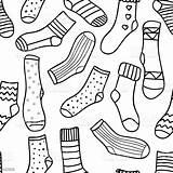 Socks Coloring Template Adult Monochrome Doodle Colorare Parati Carta Della Funny Drawn Peint Papier Postcard Ornament Modello Libro Behang Prentbriefkaar sketch template