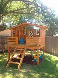 16 creative kids wooden playhouses designs for your yard With attractive idee decoration jardin exterieur 16 deco bureau londres
