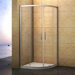 Runddusche 90x90 Schiebetür : 80x80 90x90 duschabtrennung glas viertelkreis runddusche schiebet r duschkabine ebay ~ Orissabook.com Haus und Dekorationen