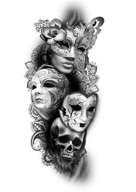 Pin by Jessica M on photography and art | Tattoos, Venetian mask tattoo, Mask tattoo