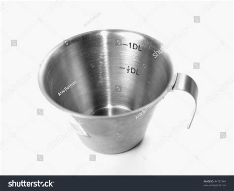 Cooking Measurements Dl by 1 Dl Measurement Cup For Baking And Cooking Stock Photo