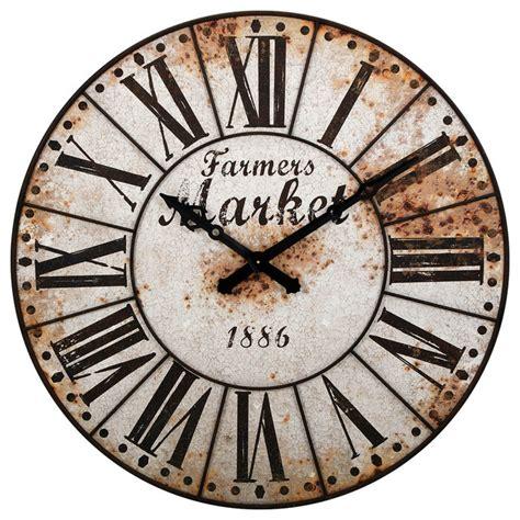 40580 farmhouse wall clock farmers market oversized wall clock farmhouse wall