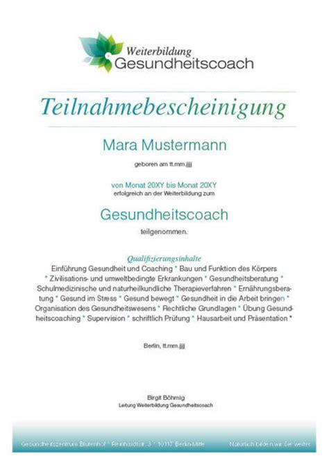 gesundheitszentrum bluetenhof berlin zertifikate und
