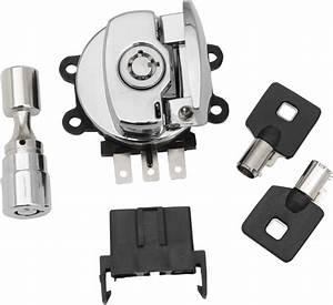 Drag Specialties Chrome Ignition Switch  U0026 Keys 96