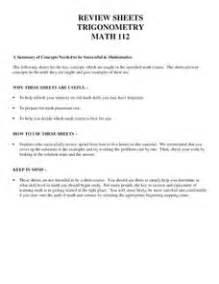 review sheets trigonometry 9th 12th grade worksheet lesson planet