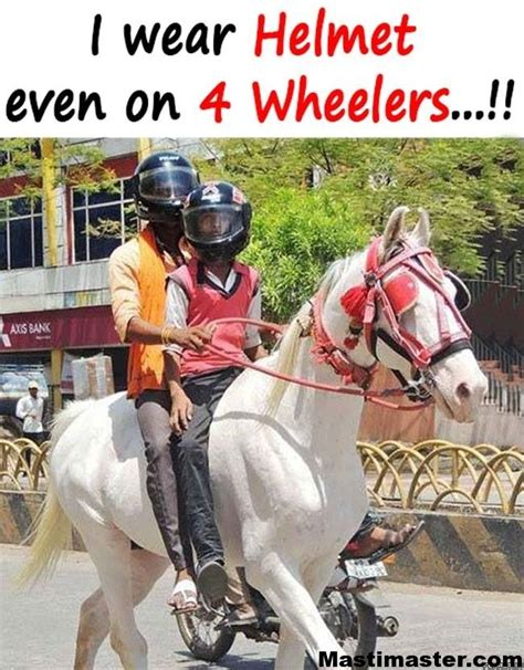 indian people funny pic  wear helmet    wheelers