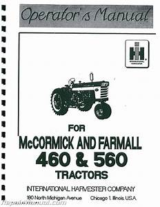 International Harvester Farmall 460 560 Operators Manual