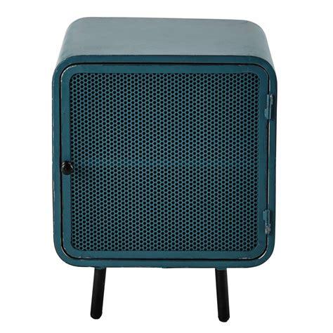 modele de chambre ado fille table de chevet en métal bleue l 44 cm knokke maisons du