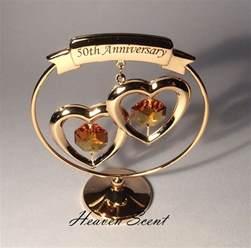 anniversary wedding gifts 50th golden wedding anniversary gift ideas gold plated swarovski crystals sp250 ebay