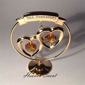 50th Golden Wedding Anniversary Gift Ideas Gold Plated+