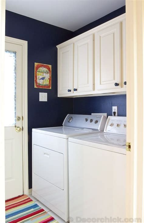 blue paint color for laundry room navy blue laundry room makeover for the home in 2019