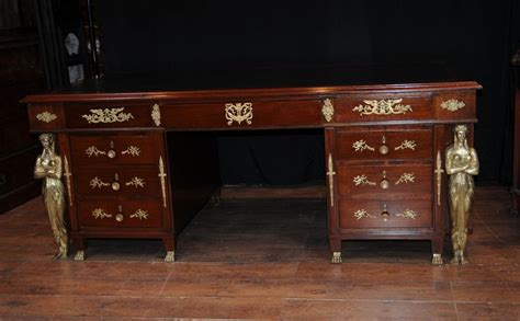 ebay bureau antique empire pedestal desk writing table bureau