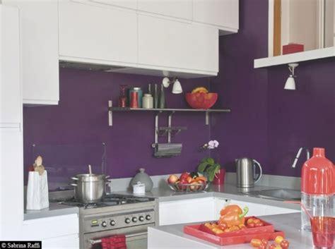 cuisine violet nouvelle idée déco cuisine gris et violet