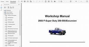 2003 Ford F250 F350 F450 F550 Repair Manual