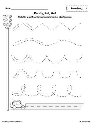 Ruler Line Tracing Prewriting Worksheet Myteachingstationcom