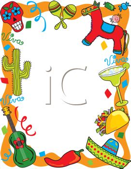 iCLIPART - Royalty Free Clipart Image of a Mexican Themed ...