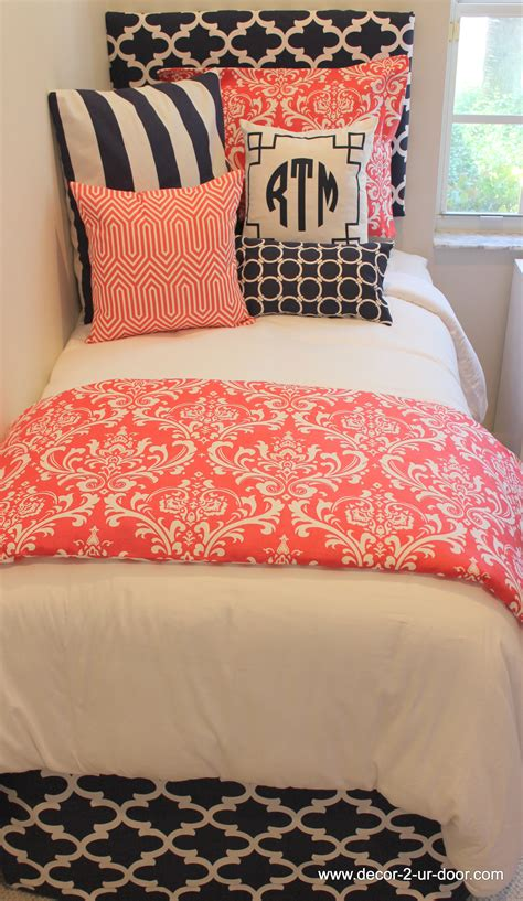 D2d Designs Coral And Navy Dorm Room  Teen  Apartment. Greenhouse Garden Rooms. Decorative Letters For Wall. Screen Room. Rooms For Boys. French Pillows Home Decor. Cheap Owl Decor. Wall Decors. Hidden Room Doors