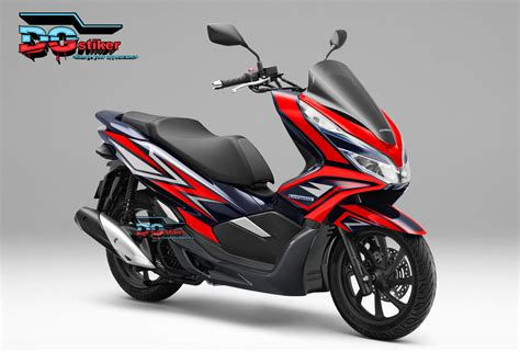 Pcx 2018 Warna Merah by Striping Honda Pcx Lokal 2018 Warna Merah Dg