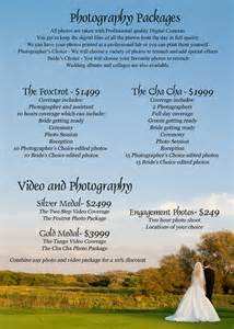 wedding photographer prices wedding package price list images