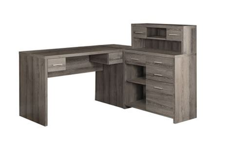 Monarch Specialties Inc Corner Desk Taupe by Monarch Specialties Inc Taupe Reclaimed Look L Shaped