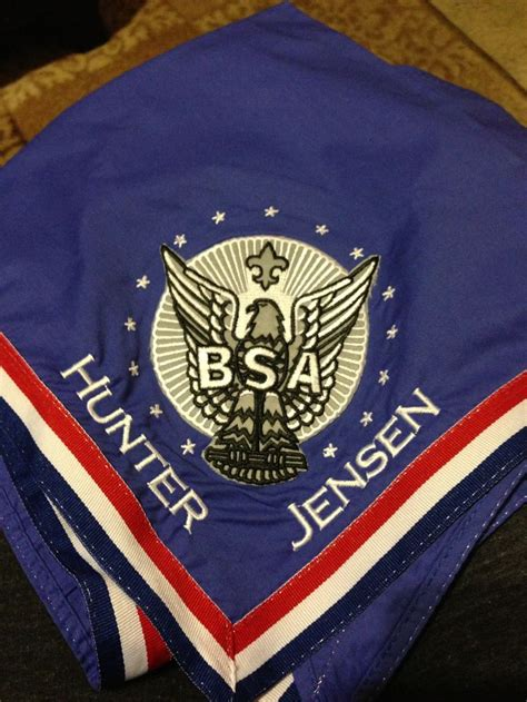 eagle neckerchief  embroidered  eagle scout