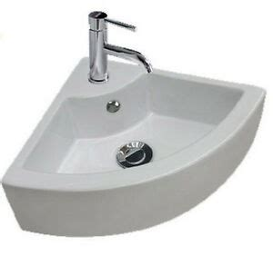 modern stylish small hand wash ceramic cloakroom corner basin sink  tap hole ebay