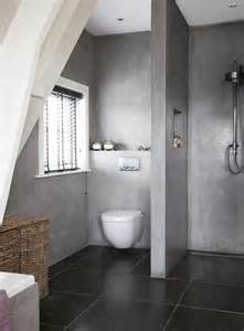 Concrete Shower Walls Bathroom