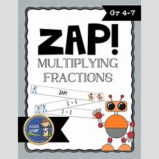 Multiplying Fractions Don't Get Zapped Math Game  Classroom Ideas Math