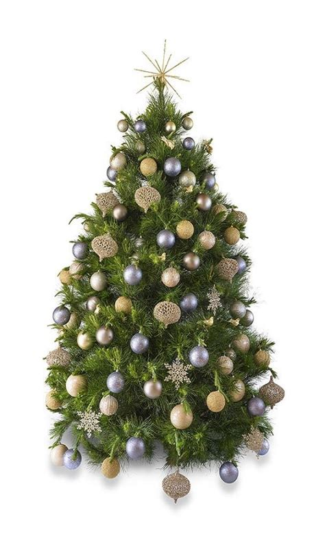 213cm christmastrees platinum real decorated tree hire the happy company