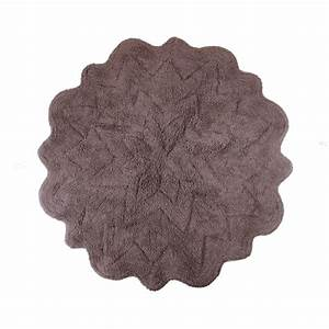 Sherry kline tufted petals cotton round bath rug for Round bath rugs