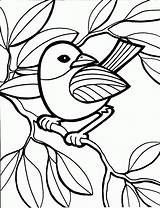 Coloring Bird Pages Printable Colouring Child Hard sketch template