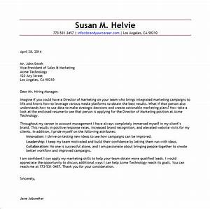 Cover letter examples for senior marketing manager for Director of marketing cover letter