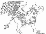 Griffin Coloring Pages Clothes Printable Adults sketch template