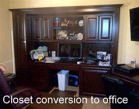 closet converted to built in home office c l design