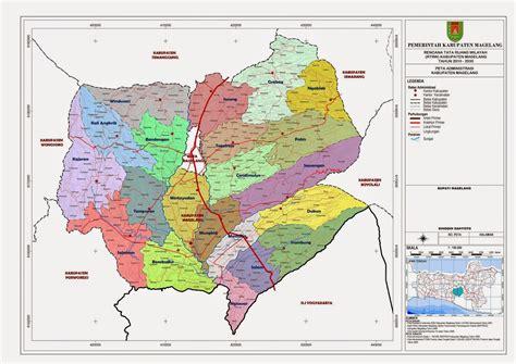 peta kota peta kabupaten magelang