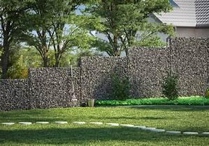 Sichtschutz Im Garten : gabione bauen ohne fundament aus beton so geht 39 s obi ~ A.2002-acura-tl-radio.info Haus und Dekorationen