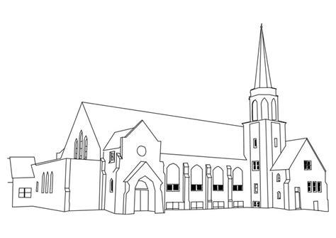 Kleurplaat Kerk by Kleurplaat Kerk Afb 27180 Images
